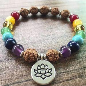 Chakra Healing Lotus Crystal Bracelet